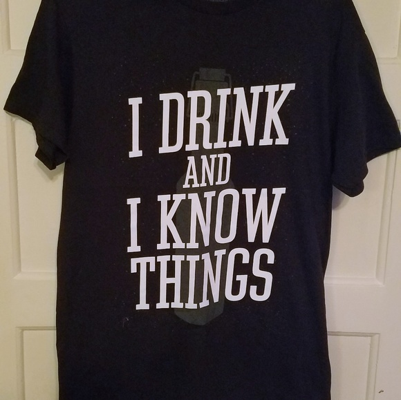 28e28b88e Spencer's Shirts   Game Of Thrones I Drink And I Know Things Tshirt ...